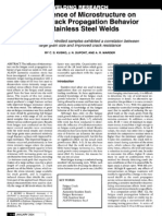 The  Influence  of  Microstructure  on  Fatigue  Crack  Propagation  Behavior  of  Stainless  Steel  Welds