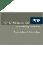 cnsa regional conference presentation