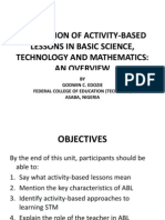 STRATEGIES FOR FACILITATING ACTIVITY BASED LESSONS