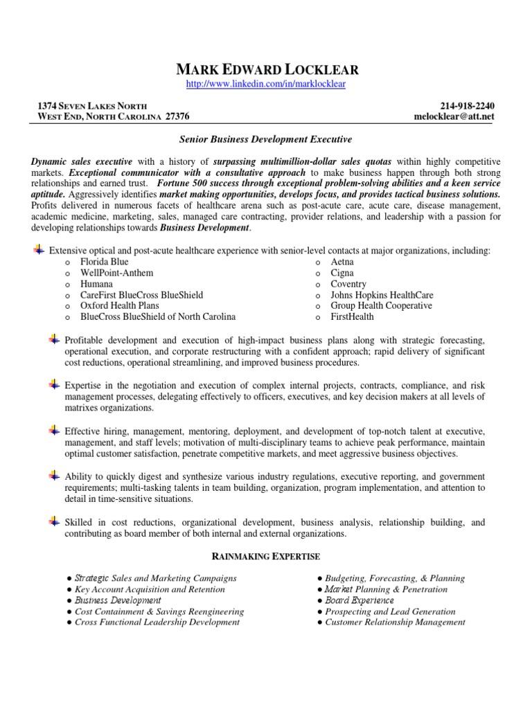 Mark E  Locklear resume | Managed Care | Health Care