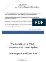 Chambers Presentation - MN House Transportation Policy & Finance Committee 01.30.13