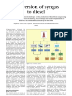 Conversion of Syngas to Diesel - Article Ptq-English