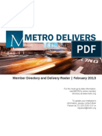 METRO Member Directory and Delivery Roster, February 2013