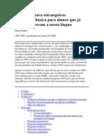 Português para estrangeiros - gramática básica