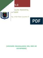 Segurida Alimentaria Nutricional Informe Tecnico Del Mes de Noviembre 2012 Comussan
