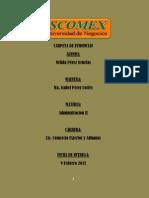 CARPETA DE EVIDENCIAS ADMINISTRACIÓN II