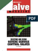Sizing severe valve