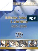Informe Anual de Labores 2007-2008