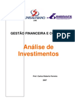 Apostila Anlise de Investimento - MBA Lins 2007