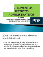 INSTRUMENTOS TECNICOS ADMINISTRATIVOS