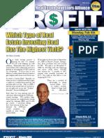 The Profit Newsletter for Atlanta REIA - February 2013