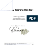 Audacity Training Handout