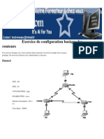 Exercice de Configuration Basique Des Routeurs