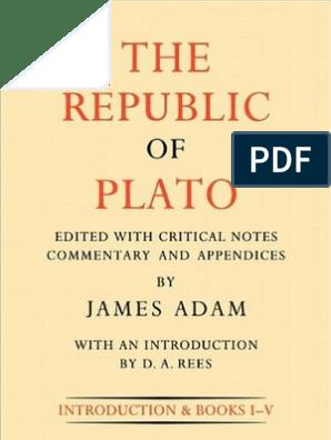 The_Republic_of_Plato_2C_Volume_I pdf | Plato | Socrates