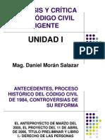 ANÁLISIS Y CRÍTICA DEL CÓDIGO CIVIL VIGENTE
