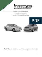 TK.com Corolla Matrix Turbo Kit Installation