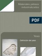 Materiales pétreos industrializados