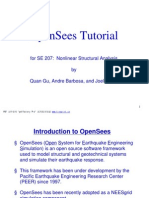 OpenSees Tutorial