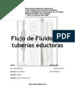 FLUJO DE FLUIDOS A TRAVÉS DE TUBERÍAS EDUCTORAS