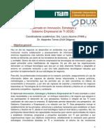Postgrado IEGE DUX ITAM - INNOVACION, ESTRATEGIA Y GOBIERNO EMPRESARIAL DE TI