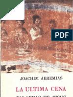 Joachim Jeremias_la Ultima Cena