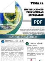 Tema 12. Instituciones Financieras Especiales. (3)