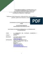INOCENCIO MELENDEZ JULIO TRABAJO- LA FORMACION DEL CONTRATO-ELEMENTOS -DEL PORQUÉ LA SEGURIDAD JURÍDICA CONTRACTUAL Y LA EFICACIA DEL CONTRATO DEPENDE DE LA ADECUADA ESTRUCTURACIÓN QUE HACE EL JURISTA DE LOS CONTRATOS PÚBLICOS Y PRIVADOS
