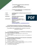"""INOCENCIO MELENDEZ JULIO-  LOS CONTRATOS DE RENTA VITALICIA Y PENSIONES COMO CATEGORIA  DE LOS CONTRATOS ALEATORIOS CONTEMPORANEOS  """"Una reflexión sobre sus fundamentos  en derecho contractual colombiano y español"""""""