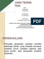 PEMILIHAN TEKNIK ANESTESI.pptx