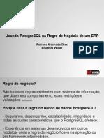 Usando PostgreSQL Regra Negocio ERP