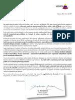 Carta Renuncia Dirección Ejecutiva Súmate