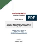 Proyecto-memoria Descriptiva Techo Estructural