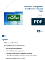 Document Management Best Practices Tips and Tricks