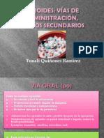 Opioides Vias y Efectos Secundarios
