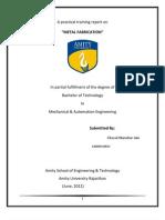 Report On Metal Fabrication