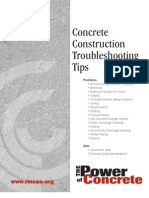 constraction troubleshooting