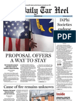 The Daily Tar Heel for January 31, 2013