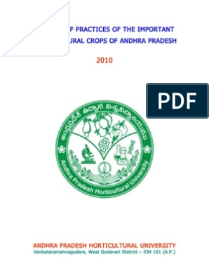 Package of Practices in Important Horticultural crops of A P  (1) (1