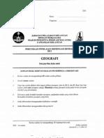 Kertas Percubaan PMR Geografi Kelantan 2012
