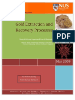 Gold extraction recovery