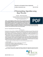 DWT Based Watermarking Algorithm using