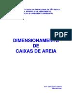Caixas de Areia Dimensionamento