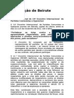 Declaração Final do 14º Encontro Internacional