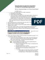 OPT1 Spectrum Acquisition Operating Procedure Rev3