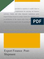 Post-shipment Finance