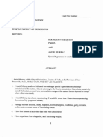 August 15, 2012, Affidavit of Andre Murray, substantiating (for of health reasons), Appointment of Power of Attorney.