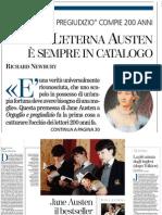 Orgoglio e Pregiudizio Compie 200 Anni, Il Bestseller Che Non Finisce Mai - La Stampa 31.01.2013
