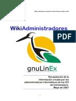 Wiki Administradores GnuLinEx-2007