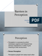barriers in perception