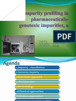 genotoxic impurity profiling - review
